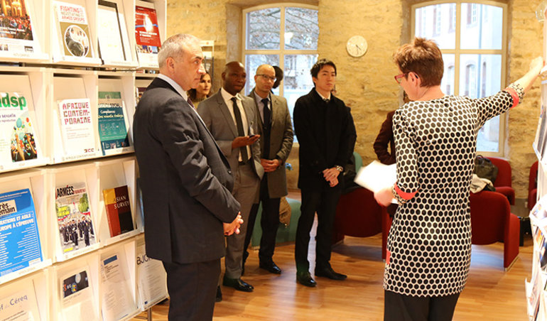Visite du centre de documentation